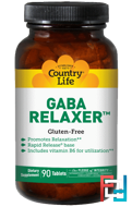 GABA Relaxer, Country Life, 90 tablets
