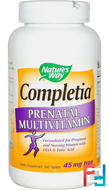 Completia Prenatal Multivitamin, Nature's Way, 240 Tablets