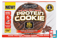 The Best Soft Baked Protein Cookie, Triple Chocolate, Muscletech, 6 Cookies * 92 g