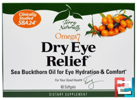 Terry Naturally, Omega 7 Dry Eye Relief, EuroPharma, 60 Softgels