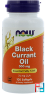 Black Currant Oil, 500 mg, Now Foods, 100 Softgels
