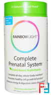 Complete Prenatal System, Food-Based Multivitamin, Rainbow Light, 180 Tablets
