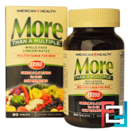 More Than A Multiple, Multivitamin for Men, American Health, 90 Tablets