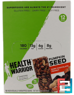 Pumpkin Seed, Dark Chocolate Peanut, Health Warrior, Inc., 12 Bars, 14.8 oz (420 g)