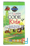 Vitamin Code, Kids, Chewable Whole Food Multivitamin for Kids, Cherry Berry, Garden of Life, 30 Chewable Bears