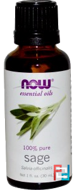 Essential Oils, Sage, Now Foods, 30 ml