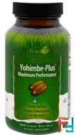 Yohimbe-Plus, Maximum Performance, Irwin Naturals, 100 Liquid Soft-Gels