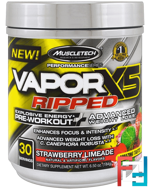 Performance Series, VaporX5 Ripped, Strawberry Limeade, Muscletech, 6.50 oz (184 g)