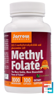 Methyl Folate, Jarrow Formulas, 1000 mcg, 100 Capsules