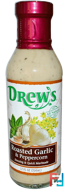 Dressing & Quick Marinade, Roasted Garlic & Peppercorn, Drew's Organics, 12 fl oz (354 ml)