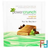 Protein Energy Bar, Original, Chocolate Mint, BNRG, Power Crunch, 12 Bars, 1.4 oz (40 g) Each