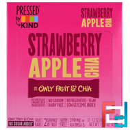 Pressed by KIND, Strawberry Apple Chia, KIND Bars, 12 Fruit Bars, 1.2 oz (35 g) Each