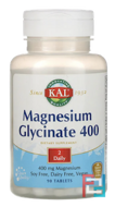 Magnesium Glycinate 400, KAL, 400 mg, 180 Tablets