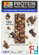 Protein Bars, Double Dark Chocolate Nut, KIND Bars, 12 Bars, 1.76 oz (50 g) Each