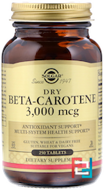 Dry Beta-Carotene, Solgar, 10.000 IU, 250 Tablets