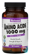 Amino Acids, Bluebonnet Nutrition, 1,000 mg, 90 Caplets