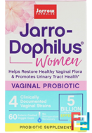 Jarro-Dophilus, Vaginal Probiotic, Women, Jarrow Formulas, 5 Billion, 60 Enteric Coated Veggie Caps