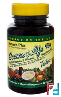 Source of Life, Multi-Vitamin & Mineral Supplement, Nature's Plus, 30 Tablets