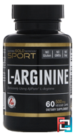 L-Arginine, AjiPure, California Gold Nutrition, CGN, 500 mg, 60 Veggie Caps
