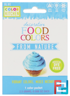 Decorative, Food Colors From Nature, Blue, ColorKitchen, 1 Color Packet, 0.088 oz (2.5 g)