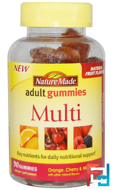 Adult Gummies, Multi, Nature Made, 90 Gummies