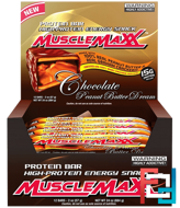 High-Protein Energy Snack, Chocolate Peanut Butter Dream, MuscleMaxx, 12 Bars, 2 oz (57 g) Each