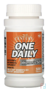 One Daily, Woman's 50+, Multivitamin Multimineral , 21st Century, 100 Tablets