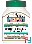 Milk Thistle Extract, 21st Century, 60 Veggie Caps