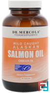 Wild Caught Alaskan Salmon Oil, Dr. Mercola, 90 Capsules