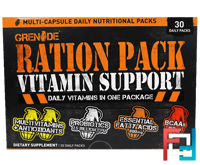 Ration Pack Vitamin Support, Grenade, 30 Daily Packs