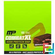 Combat XL, High Protein Bar, Chocolate Brownie, MusclePharm, 12 Bars, 38 oz (1080 g)