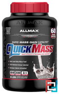 QuickMass, Weight Gainer, Rapid Mass Gain Catalyst, Cookies & Cream, ALLMAX Nutrition, 6 lbs, 2.72 kg