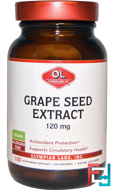 Grape Seed Extract, Olympian Labs Inc., 120 mg, 100 Vegetarian Capsules