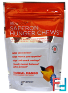 Saffron Hunger Chews, Tropical Mango, Rebody Safslim, 30 Soft Chews