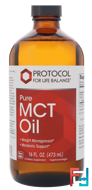 Pure MCT Oil, Protocol for Life Balance, 16 fl oz (473 ml)