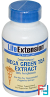 Mega Green Tea Extract, Decaffeinated, Life Extension, 100 Veggie Caps