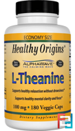 L-Theanine, Healthy Origins, 100 mg, 180 Veggie Caps