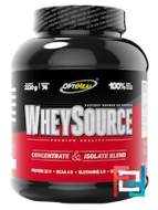 WheySource, Concentrate & ISOLATE blend, OptiMeal, 2220 g