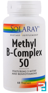 Methyl B-Complex 50, Solaray, 60 Veggie Caps