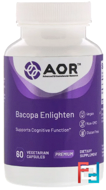 Ayurved Series, Bacopa Enlighten, Advanced Orthomolecular Research AOR, 60 Veggie Caps