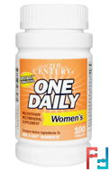 One Daily, Women's, 21st Century, 100 Tablets