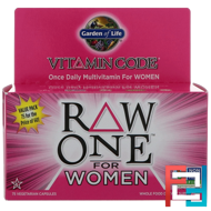 Vitamin Code, Raw One, Once Daily Raw Multi-Vitamin for Women, Garden of Life, 75 UltraZorbe Veggie Caps
