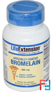 Specially-Coated Bromelain, Life Extension, 500 mg, 60 Enteric Coated Tablets