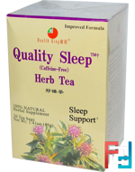 Quality Sleep, Herb Tea, Caffeine Free, 20 Tea Bags, Health King, 1.41 oz (40 g)