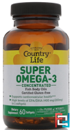 Super Omega-3, Country Life, Concentrated, 60 Softgels