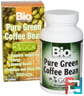 Pure Green Coffee Bean, Bio Nutrition, 800 mg, 50 Capsules