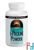 L-Proline Powder, Source Naturals, 113.4 g