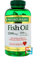 Fish Oil, Nature's Bounty, 1200 mg, 320 Rapid Release Softgels