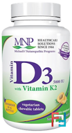 Vitamin D3, with Vitamin K2, Michael's Naturopathic, 5.000 IU, 90 Sublingual Tablets