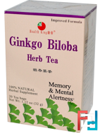 Ginkgo Biloba Herb Tea, 20 Tea Bags, Health King, 1.12 oz (32 g)